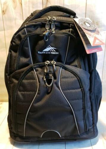 freewheel wheeled laptop backpack w retractable handle