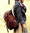 Men's Leather Backpack Vintage Messenger Shoulder Bags Lapto