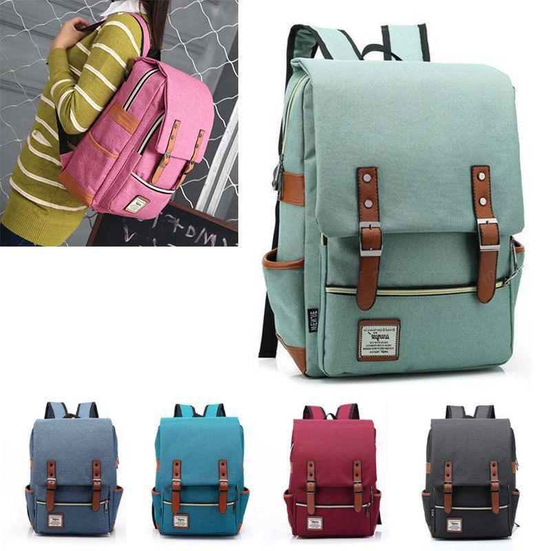 Girl Women Men Leather Travel Rucksack Laptop