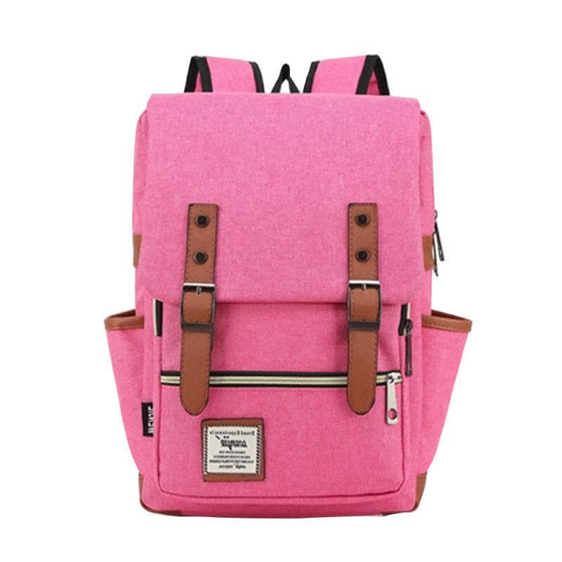 Girl Women Men Leather Rucksack School