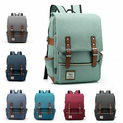 Girl Leather Backpack Laptop Bookbag