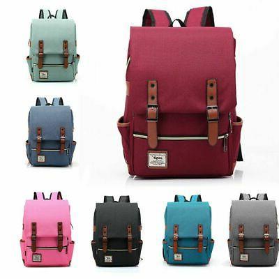Leather Backpack Rucksack Laptop Bag