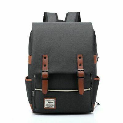 Girl Men Leather Backpack Laptop