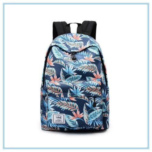 Girls Shoulder Canvas Backpack Rucksack School Laptop