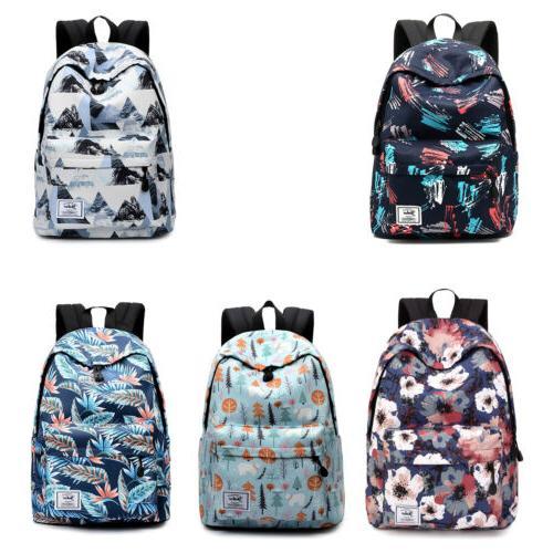 girls boys shoulder canvas backpack rucksack school
