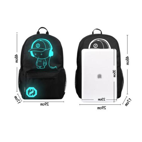 Waterproof Anime Backpack USB at