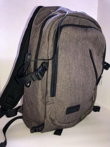 Gray Bag Backpack Bag Travel Light USB Port