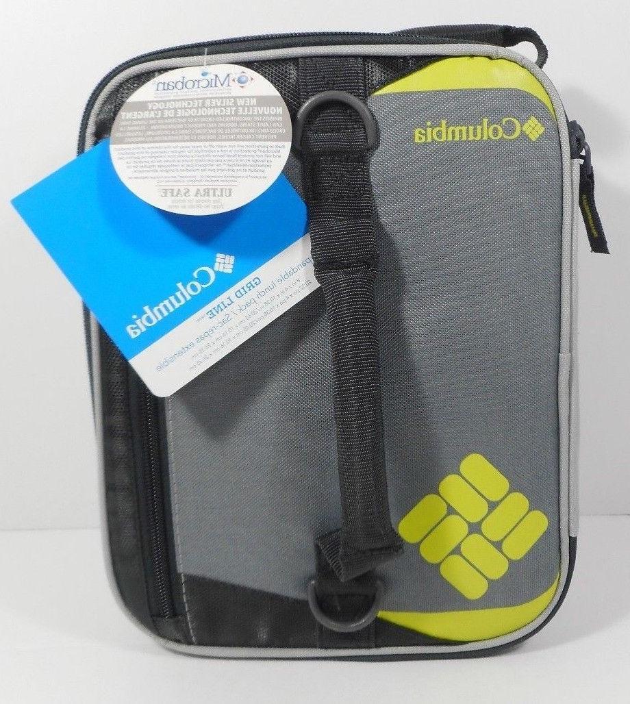 grid line lunch cooler pack bag expandable