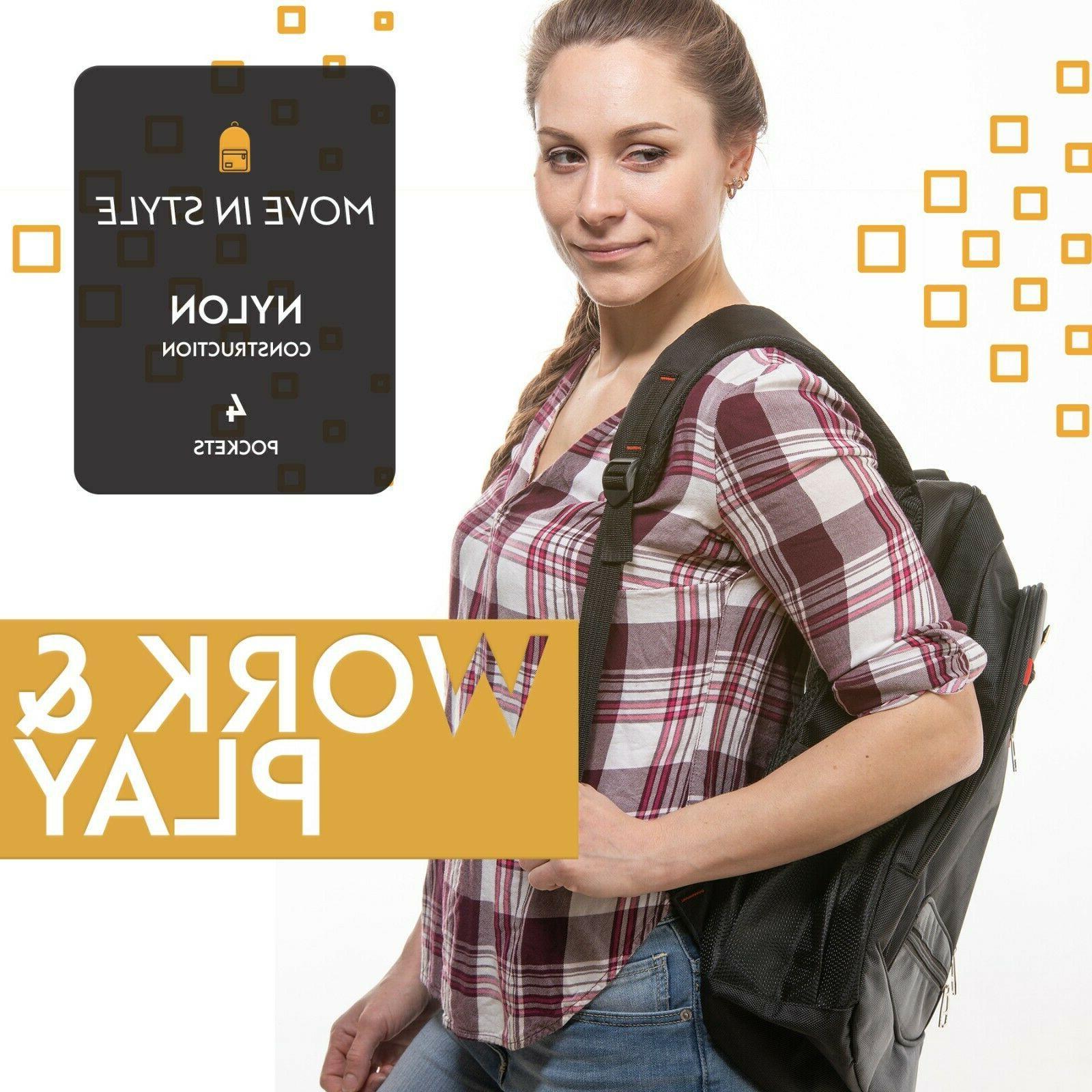 Handsome Man Brands Line Backpack - Fits Laptop