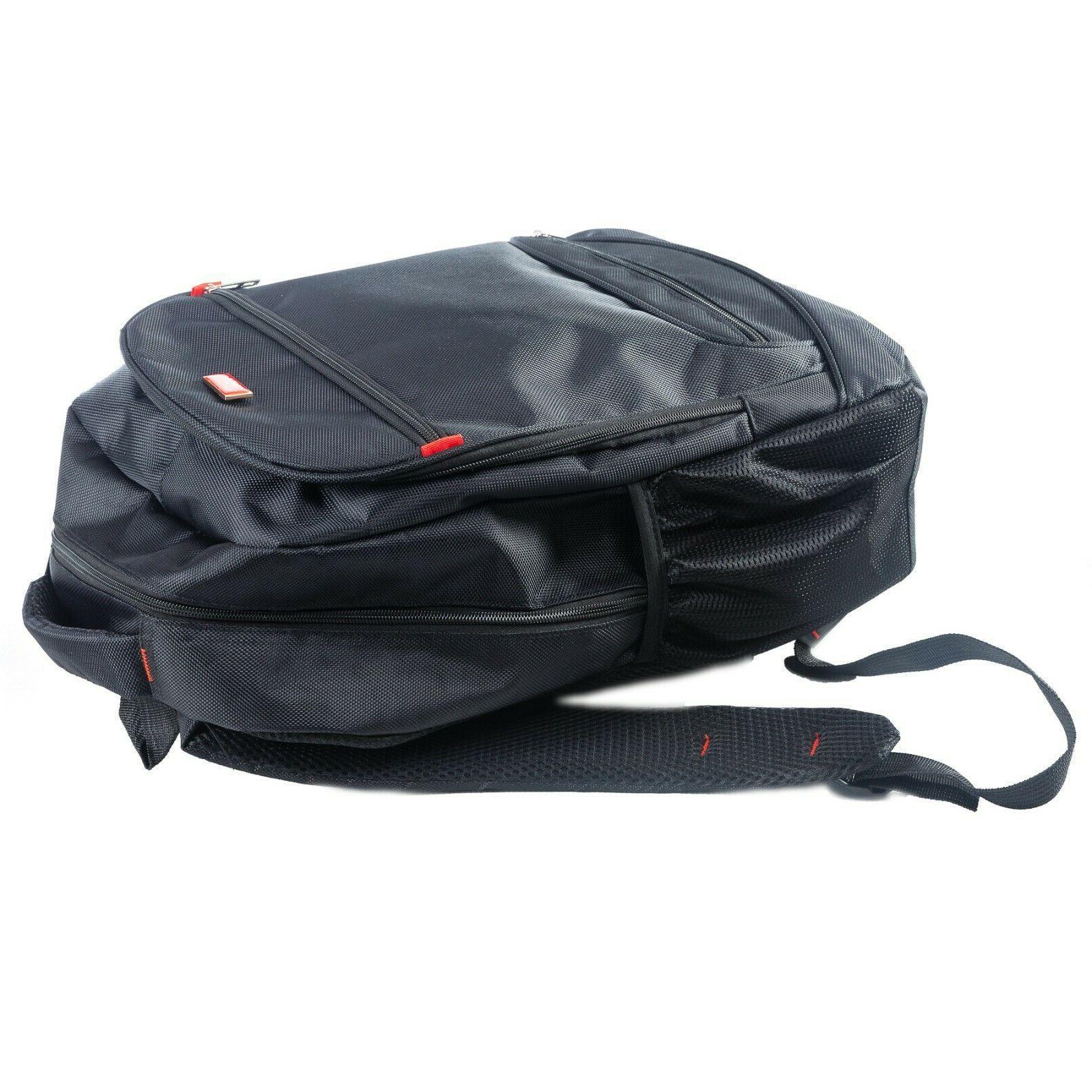 Handsome Man Brands Line Backpack Black, Fits Laptop