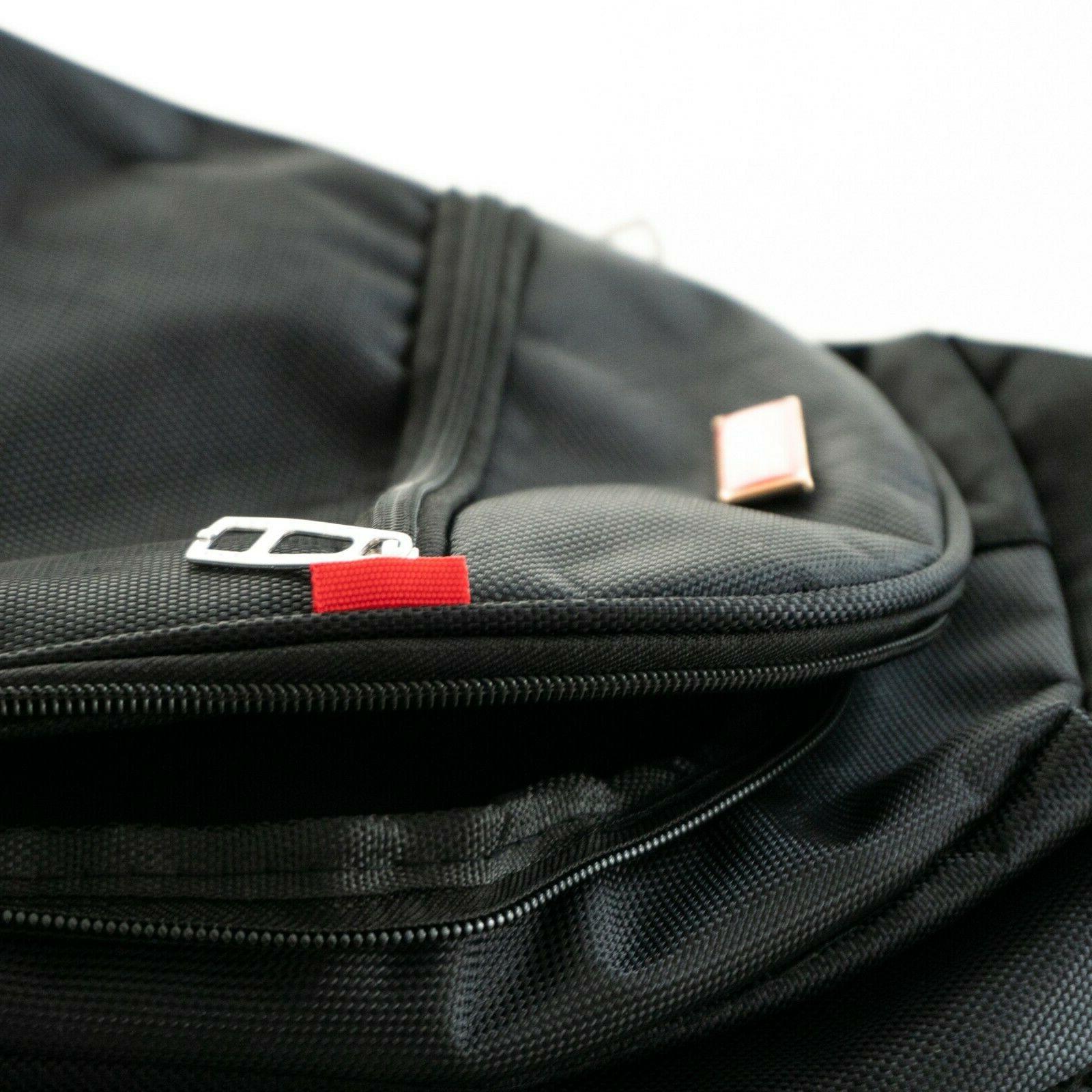 """Handsome Brands Club Line Backpack Black, Fits 15"""" Laptop"""