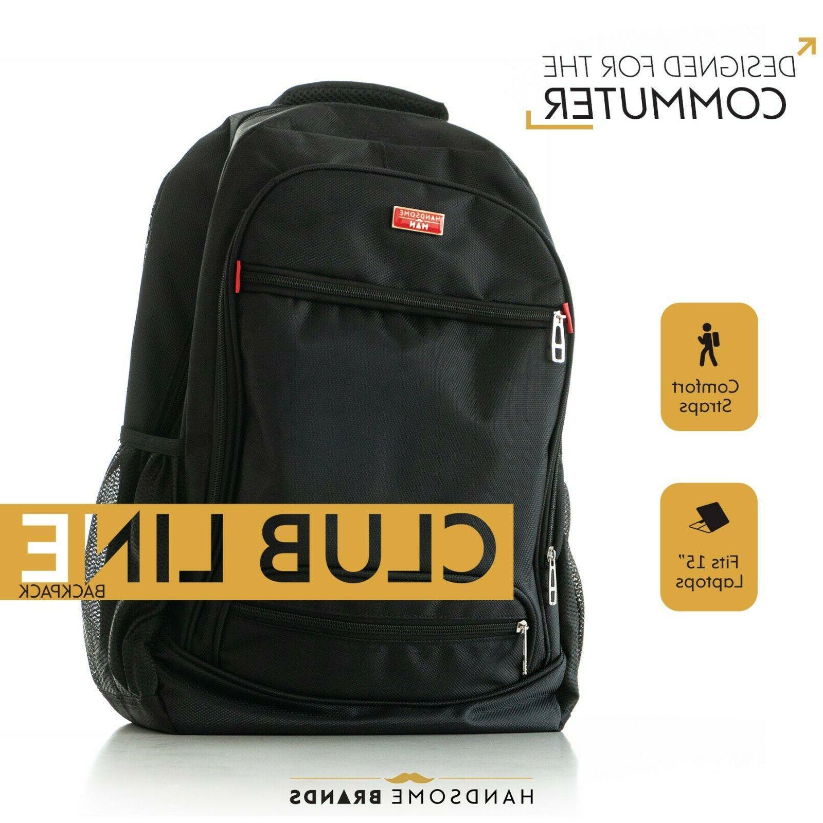 handsome man brands club line backpack black