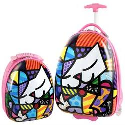 Heys America Britto Kids Luggage and Backpack Set - Pink Kit