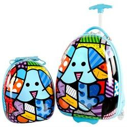 Heys America Britto Kids Luggage and Backpack Set - Blue Pup