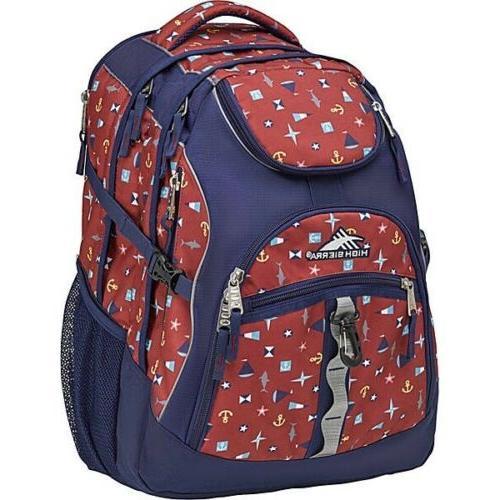 high sierra 17 laptop printed backpack nwt