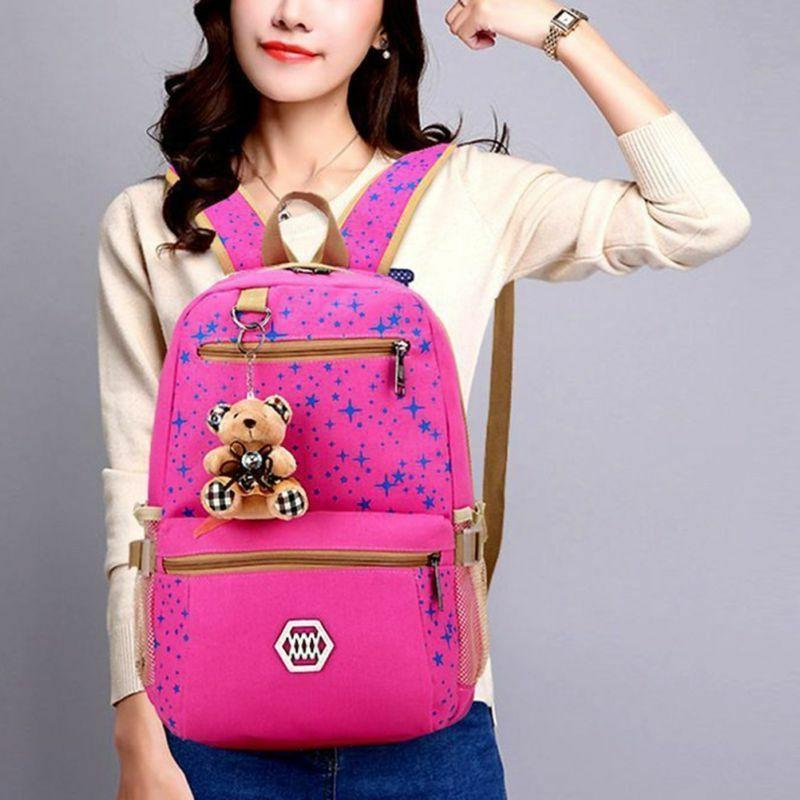HOT 3pcs/set Women Bookbag Laptop Travel School Girl US