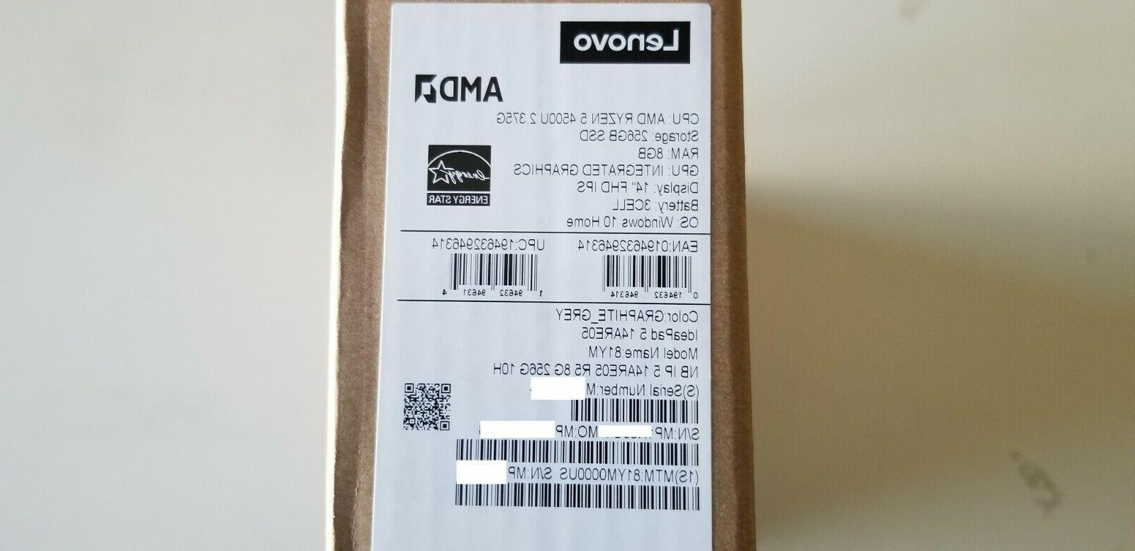 Lenovo IdeaPad Ryzen 5 8GB DDR4, SSD New