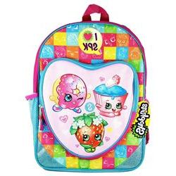Shopkins KNCF07ZA 16 inch with Heart Shaped Zipper Front Poc