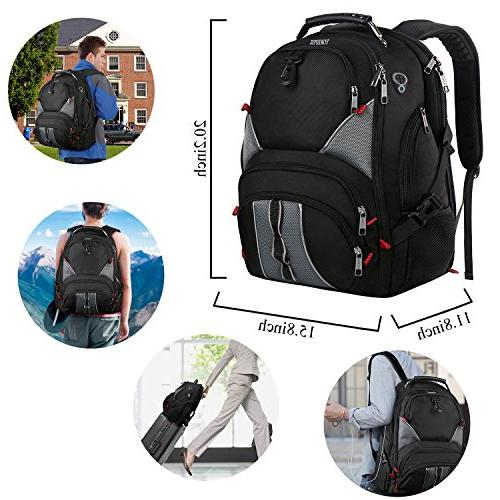 Travel Backpacks Inch Laptop Backpack,Large Friendly Durable Computer Backpack with High School,Water Resistant College Charger Port,
