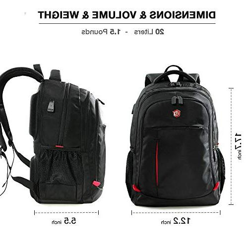 Laptop Backpack, Computer Bag Women Men, College Backpacks Port Fits
