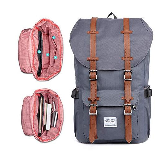 KAUKKO Backpack, Travel Pack, Casual Large College School Daypack, Bags Back Laptop