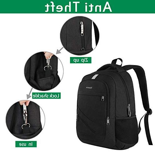 College Travel Backpack Theft Computer Charging School Men and Women, Slim Lightweight Daypack Fits