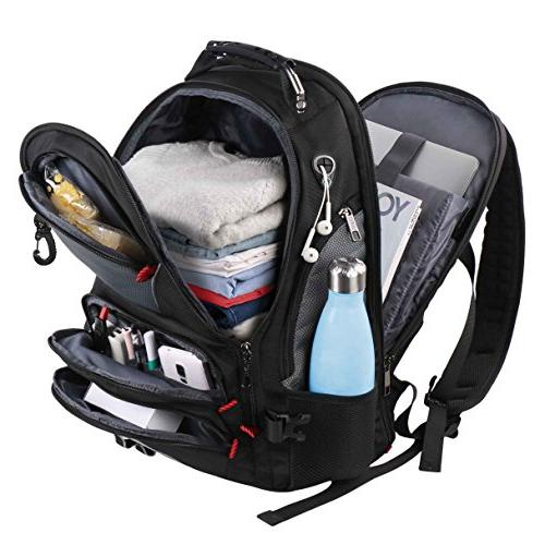 Travel Laptop Computer Bag 17 Men Women Hiking/School / Black Smart Scan with 9 Made Water-Resistant
