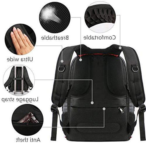 Travel Laptop Computer / Black Smart Bookbag Water-Resistant