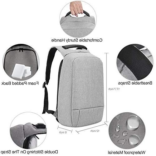 Laptop Backpack, Anti USB Business Backpack Resistant Travel School Fits 15.6
