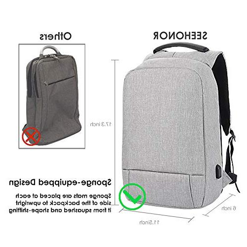Laptop Theft with Business Backpack Water Resistant School Fits 15.6 Inch