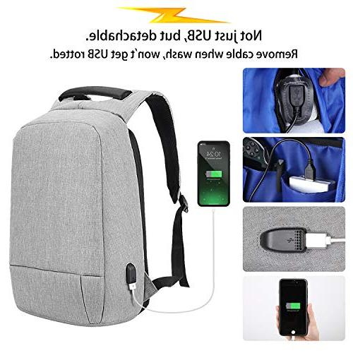 Laptop Backpack, Theft Backpack USB Resistant Travel Bags Fits Inch