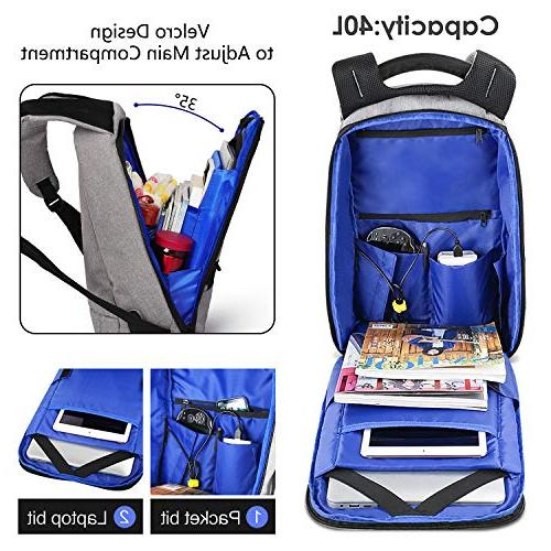 Theft USB Slim Business Backpack Fits