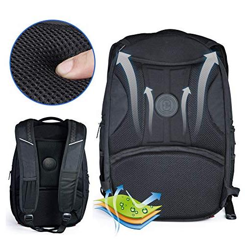 Laptop Busniess Backpack with Port,RFID and for Travel Fits 15.6-Inch Black