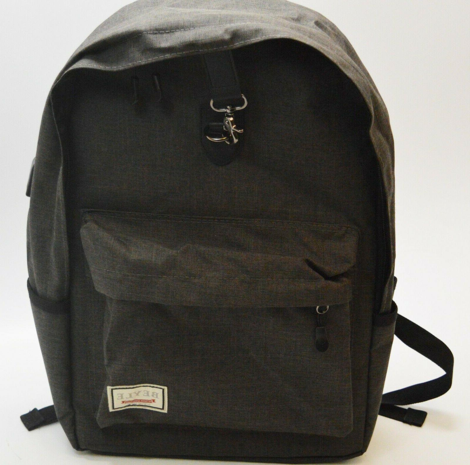 laptop backpack anti theft water resistant usb