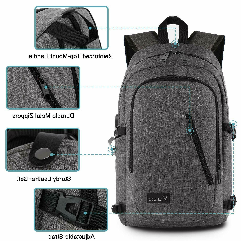 Mancro Laptop Anti Theft Bag Men