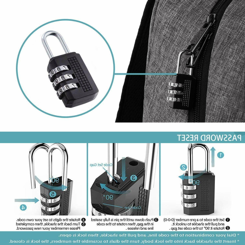 Mancro Backpack Business Anti Travel Bag for Women Men