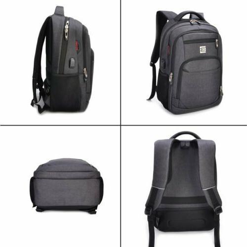 Men Backpack USB Charging Travel School