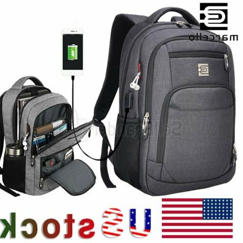 laptop backpack business travel usb charging port