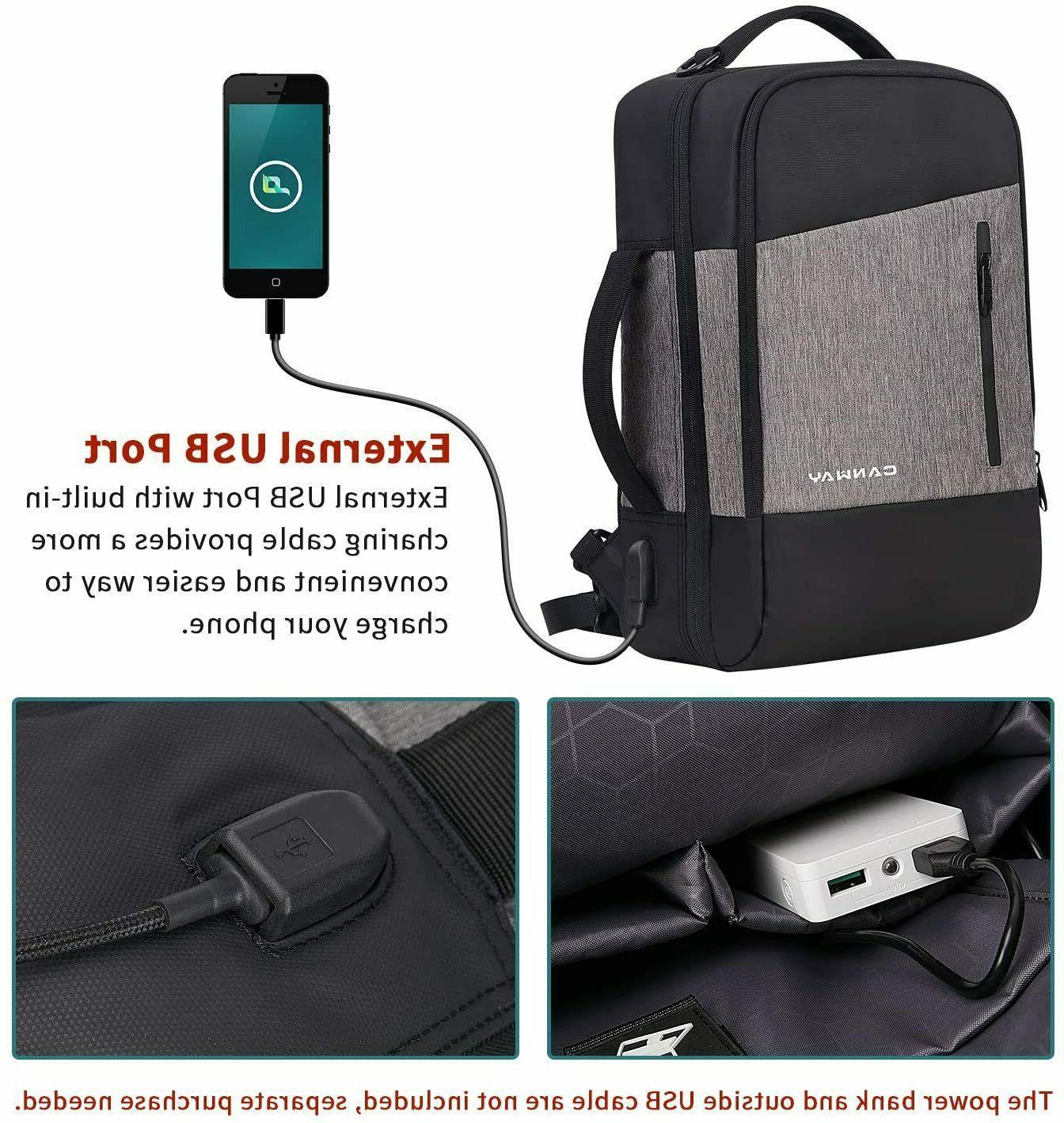 Laptop Backpack Men,Travel Backpack port