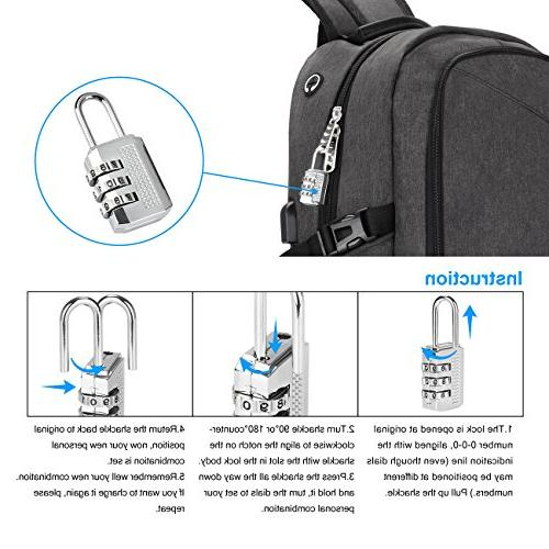 Laptop Backpack, WENFENG Computer with USB Charging School Bag 17 Inch