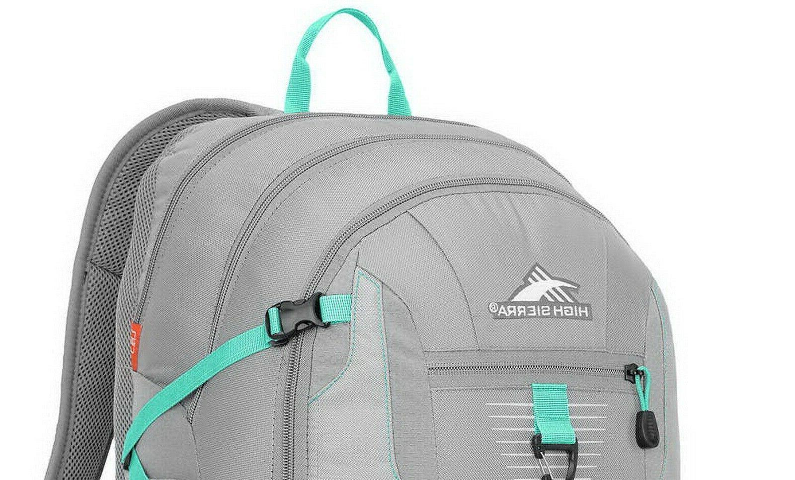 High Sierra Backpack Large Padded Tablet Sleeve Silver