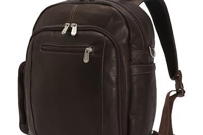 laptop backpack shoulder bag chocolate