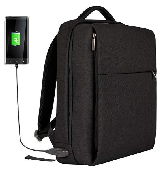 laptop backpack slim business with usb charging