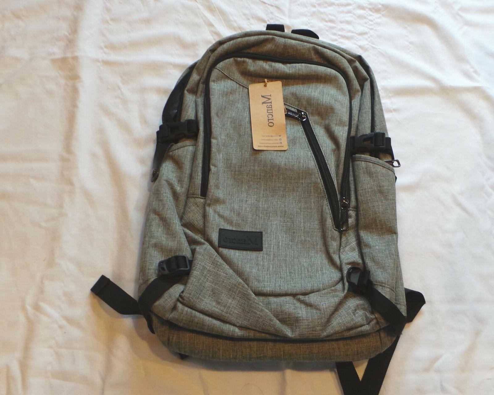 MANCRO LAPTOP BACKPACK-WATER RESISTANT-USB CHARGING CABLE-MU