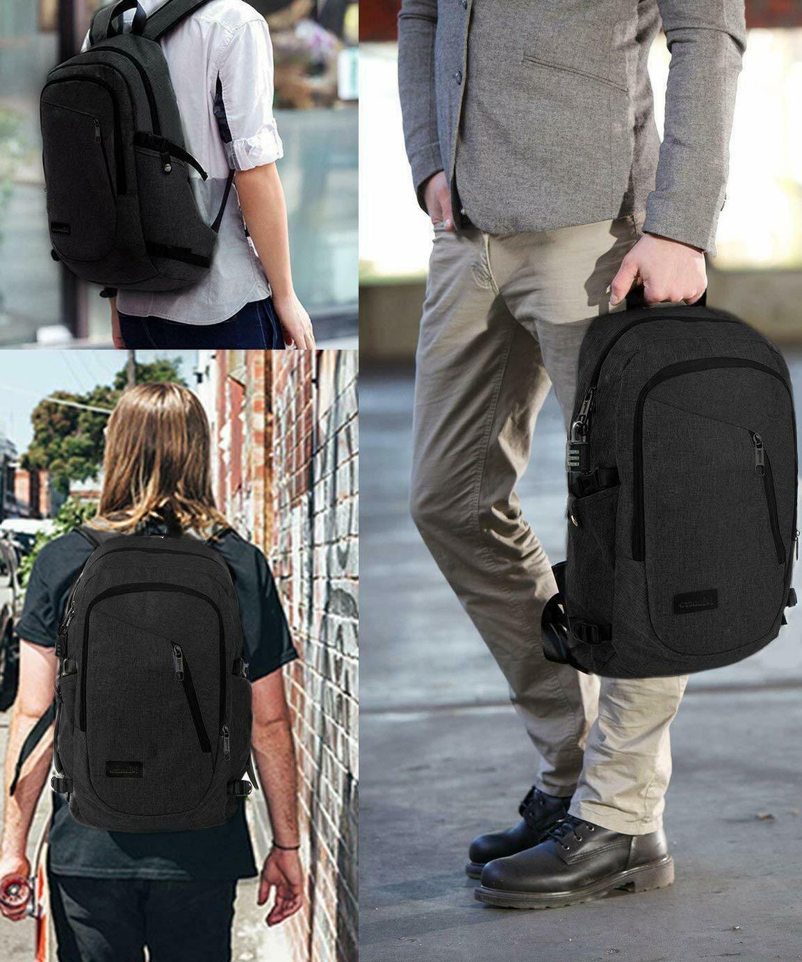 Mancro Laptop Backpack Resistant Black