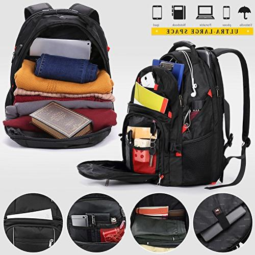 Laptop 17.3 Waterproof Large Capacity Travel Students Laptop Notebook USB Charging Men