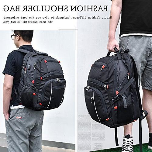 Laptop Waterproof Large Travel Students Notebook Bags Charging Port for Men Women