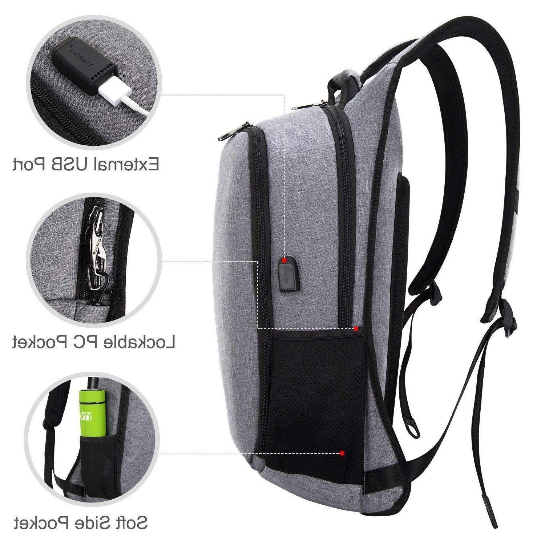 Tigernu Laptop Backpack USB Charging 15.6 17 Inch Laptop Notebook