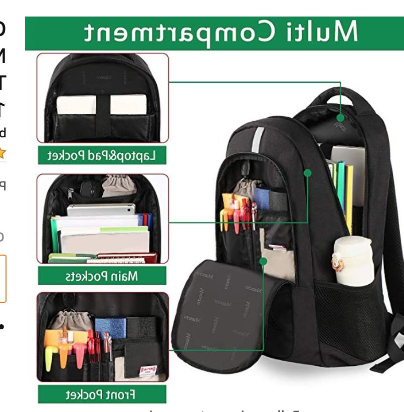 Mancro Laptop Backpack USP Port Black.