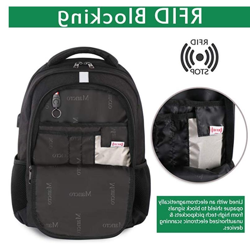 Mancro Backpack with USP Port NWT. Black.